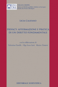 10. L. Califano, Privacy: affermazione e pratica di un diritto fondamentale, Editoriale Scientifica, Napoli, 2016